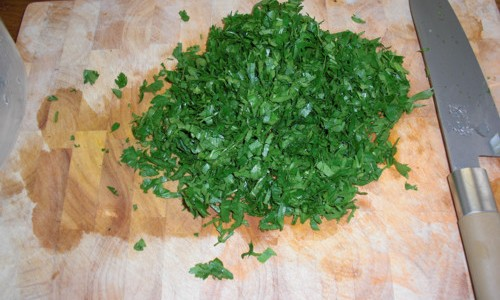 Large Bunch of Chopped Parsley