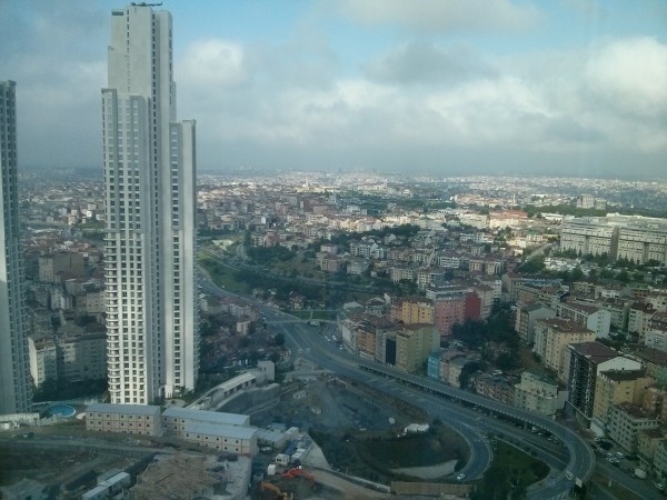 View from the 21st floor of Hotel Room