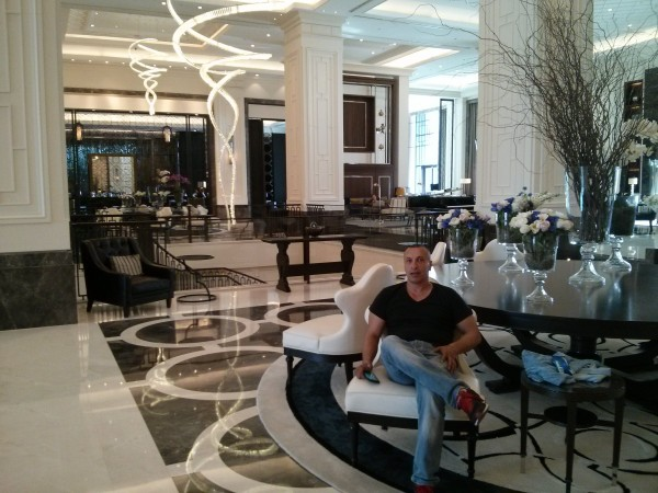 The Lobby at The Hilton Hotel Bomonti in Istanbul