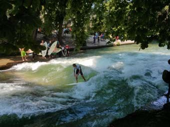 Surfing at The Englisher Garten