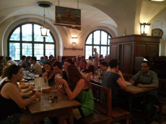 Inside the Hofbrauhaus