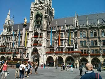 Munich City Hall in Marienplatz