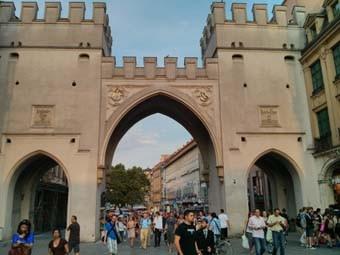 Medieval Stone Gate Marienplatz
