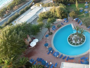 View of Pool from Hotel Room